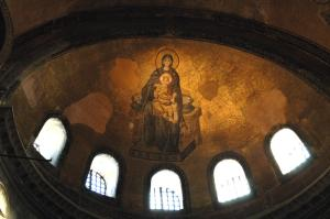 The platitera icon in the apse of Hagia Sophia, the largest church ever built (present day Istanbul)
