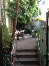 Thorough Bread's nice little patio in the back.  Shades of Italy!