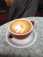 A great cappucino at Cafe Trieste, North Beach