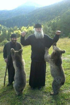 Orthodox Monk with Animal 2