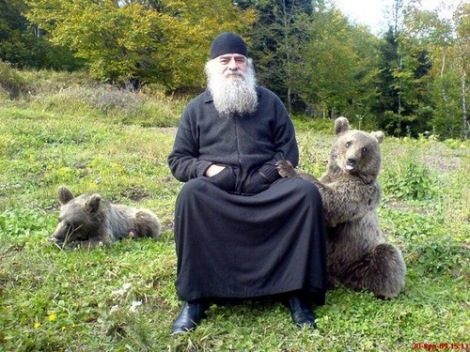 Orthodox Monk with Animal 4